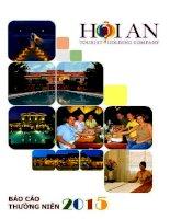 Báo cáo thường niên năm 2015 - Công ty cổ phần Du lịch - Dịch vụ Hội An