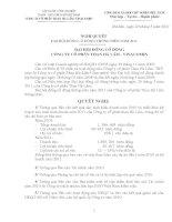 Nghị quyết Đại hội cổ đông thường niên năm 2011 - CTCP Than Hà Lầm - Vinacomin