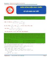10 bài toán điện xoay chiều hay và khó điểm 9 ( Luyện thi THPT quốc gia môn Vật lý )