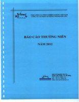 Báo cáo thường niên năm 2012 - Công ty Cổ phần Xi măng Vicem Hải Vân