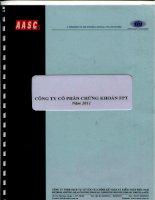 Báo cáo tài chính năm 2011 (đã kiểm toán) - Công ty Cổ phần Chứng khoán FPT