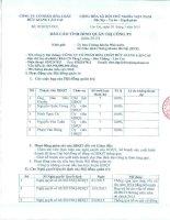 Báo cáo tình hình quản trị công ty - CTCP Hóa chất Đức Giang – Lào Cai