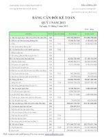 Báo cáo tài chính công ty mẹ quý 1 năm 2011 - Công ty Cổ phần Đông Hải Bến Tre