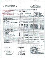 Báo cáo KQKD quý 4 năm 2011 - Công ty Cổ phần Hóa An