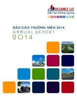 Báo cáo thường niên năm 2014 - Công ty Cổ phần Phát triển Hạ tầng Kỹ thuật