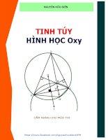 Tinh túy hình học phẳng Oxy ( Luyện thi THPT quốc gia môn Toán )
