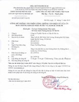 Báo cáo tài chính công ty mẹ quý 1 năm 2015 - Công ty Cổ phần Vận tải và Xếp dỡ Hải An
