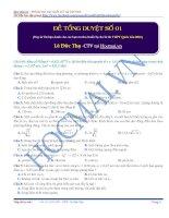 Bộ 5 đề tổng duyệt thi THPT quốc gia môn hóa học có đáp án chi tiết