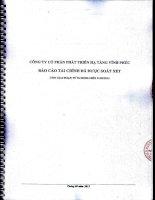 Báo cáo tài chính công ty mẹ quý 2 năm 2015 (đã soát xét) - Công ty Cổ phần Phát triển Hạ tầng Vĩnh Phúc