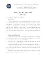 Báo cáo thường niên năm 2011 - Công ty Cổ phần In Sách giáo khoa Hoà Phát