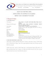 Báo cáo thường niên năm 2010 - Công ty cổ phần Đầu tư DNA