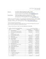 Báo cáo tài chính quý 3 năm 2008 - Công ty cổ phần Xây dựng và Kinh doanh Địa ốc Hoà Bình