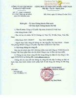 Báo cáo tài chính công ty mẹ năm 2015 (đã kiểm toán) - Công ty Cổ phần Tập đoàn Dabaco Việt Nam