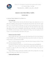 Báo cáo thường niên năm 2012 - Công ty Cổ phần In Sách giáo khoa Hoà Phát