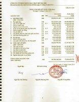 Báo cáo tài chính năm 2013 (đã kiểm toán) - Công ty Cổ phần Xăng dầu Chất đốt Hà Nội
