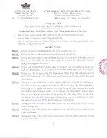 Nghị quyết Đại hội cổ đông thường niên - Công ty Cổ phần Nông dược H.A.I