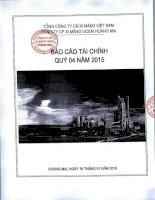Báo cáo tài chính quý 4 năm 2015 - Công ty cổ phần Xi măng VICEM Hoàng Mai