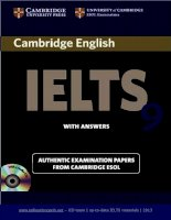 Cambridge 9 reading test for IELTS
