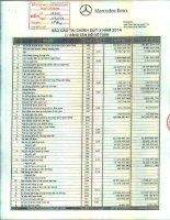Báo cáo tài chính công ty mẹ quý 3 năm 2014 - Công ty Cổ phần Dịch vụ Ô tô Hàng Xanh