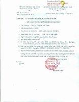 Báo cáo tài chính hợp nhất quý 3 năm 2014 - Công ty Cổ phần Hải Minh