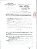 Nghị quyết Đại hội cổ đông bất thường - Công ty Cổ phần Chứng khoán Golden Bridge Việt Nam