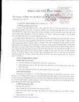 Báo cáo thường niên năm 2014 - Công ty Cổ phần Sách Đại học - Dạy nghề