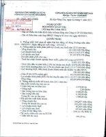Nghị quyết Hội đồng Quản trị ngày 2-3-2011 - Công ty Cổ phần Cao su Hòa Bình