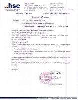 Nghị quyết Hội đồng Quản trị ngày 15-4-2011 - Công ty Cổ phần Chứng khoán Thành phố Hồ Chí Minh