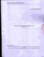 Báo cáo tài chính năm 2010 (đã kiểm toán) - Công ty Cổ phần Chứng khoán FPT