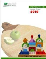 Báo cáo thường niên năm 2010 - Công ty Cổ phần Chế biến Gỗ Đức Thành