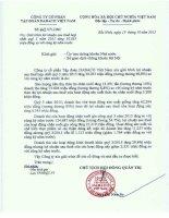 Báo cáo tài chính hợp nhất quý 3 năm 2015 - Công ty Cổ phần Tập đoàn Dabaco Việt Nam
