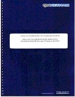 Báo cáo tài chính công ty mẹ năm 2013 (đã kiểm toán) - Công ty Cổ phần Đầu tư và Xây dựng HUD1