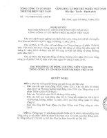 Nghị quyết Đại hội cổ đông thường niên - Tổng Công ty cổ phần Thiết bị điện Việt Nam