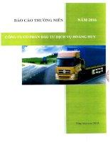 Báo cáo thường niên năm 2015 - Công ty Cổ phần Đầu tư Dịch vụ Hoàng Huy