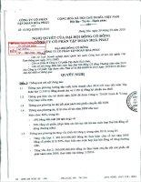 Nghị quyết đại hội cổ đông ngày 30-3-2010 - Công ty cổ phần Tập đoàn Hòa Phát
