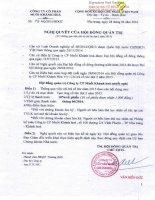 Nghị quyết Hội đồng Quản trị - Công ty Cổ phần Muối Khánh Hòa