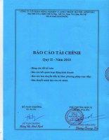Báo cáo tài chính quý 2 năm 2015 - Công ty Cổ phần Nông nghiệp và Thực phẩm Hà Nội - Kinh Bắc