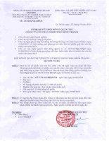 Nghị quyết Hội đồng Quản trị - Công ty Cổ phần Sản xuất Kinh doanh Xuất nhập khẩu Bình Thạnh