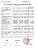 Báo cáo tài chính hợp nhất quý 3 năm 2013 - Ngân hàng Thương mại cổ phần Đông Á