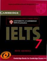 CAMBRIDGE IELTS 7 Ielts free