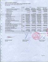 Báo cáo KQKD hợp nhất quý 1 năm 2011 - Công ty Cổ phần Docimexco