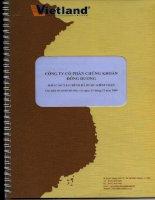 Báo cáo tài chính năm 2009 (đã kiểm toán) - Công ty Cổ phần Chứng khoán Đông Dương