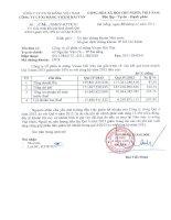 Báo cáo tài chính quý 4 năm 2013 - Công ty Cổ phần Xi măng Vicem Hải Vân