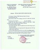 Báo cáo tài chính hợp nhất quý 1 năm 2014 - Công ty Cổ phần Tập đoàn Dabaco Việt Nam