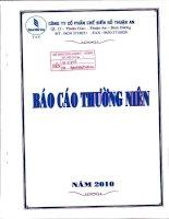 Báo cáo thường niên năm 2010 - Công ty Cổ phần Chế biến Gỗ Thuận An