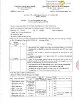 Báo cáo tình hình quản trị công ty - Công ty Cổ phần Phát triển Hạ tầng Vĩnh Phúc