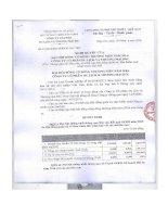 Nghị quyết Đại hội cổ đông thường niên - CTCP Du lịch và Thương mại DIC