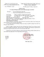 Báo cáo tài chính năm 2015 (đã kiểm toán) - Công ty Cổ phần Xi măng Vicem Hải Vân