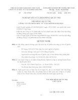 Nghị quyết Hội đồng Quản trị ngày 24-03-2011 - Công ty Cổ phần Đầu tư Tài chính Giáo dục
