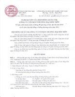 Nghị quyết Hội đồng Quản trị ngày 07-03-2011 - Công ty Cổ phần Thương mại Hóc Môn